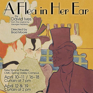 "Poster for CMC Theatre production ""A Flea in Her Ear"""