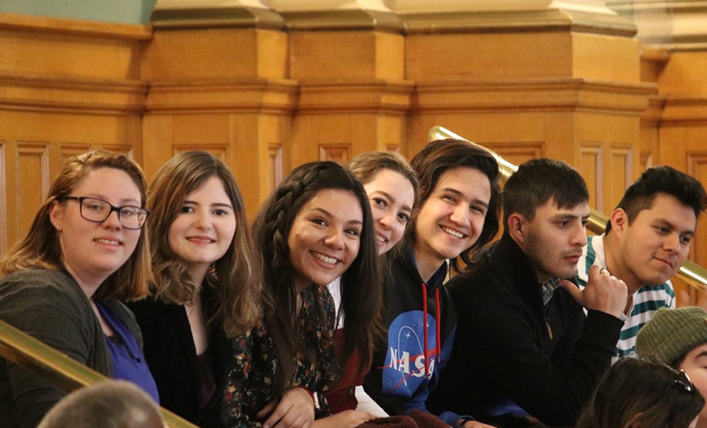 TRIO students inside the Colorado Capitol.